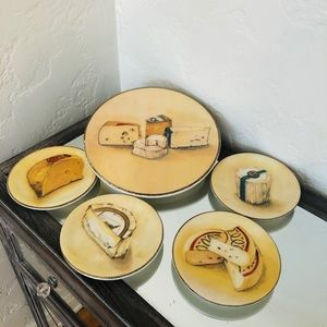 Williams Sonoma Cheese Plate Set